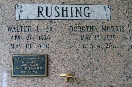 RUSHING, WALTER L, JR  (VETERAN WWII) - Ascension County, Louisiana | WALTER L, JR  (VETERAN WWII) RUSHING - Louisiana Gravestone Photos