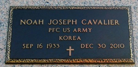 CAVALIER, NOAH JOSEPH  (VETERAN KOR) - Assumption County, Louisiana | NOAH JOSEPH  (VETERAN KOR) CAVALIER - Louisiana Gravestone Photos