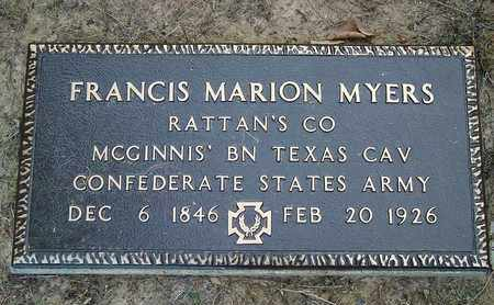 MYERS, FRANCIS MARION  (VETERAN CSA) - Beauregard County, Louisiana   FRANCIS MARION  (VETERAN CSA) MYERS - Louisiana Gravestone Photos