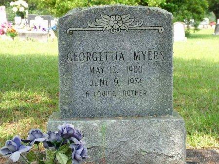 MYERS, GEORGETTIA - Beauregard County, Louisiana | GEORGETTIA MYERS - Louisiana Gravestone Photos
