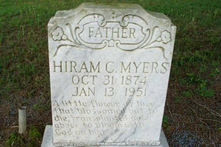 MYERS, HIRAM C - Beauregard County, Louisiana | HIRAM C MYERS - Louisiana Gravestone Photos