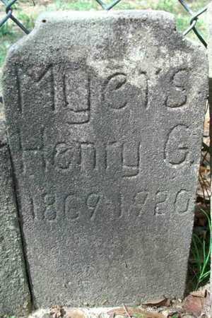MYERS, HENRY G - Beauregard County, Louisiana | HENRY G MYERS - Louisiana Gravestone Photos