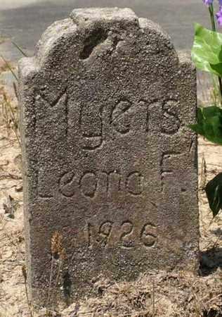 MYERS, LEONA F - Beauregard County, Louisiana   LEONA F MYERS - Louisiana Gravestone Photos
