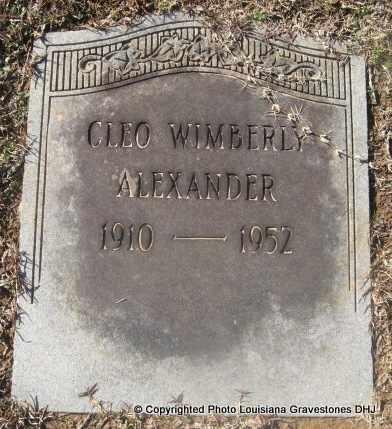 ALEXANDER, CLEO - Bienville County, Louisiana | CLEO ALEXANDER - Louisiana Gravestone Photos
