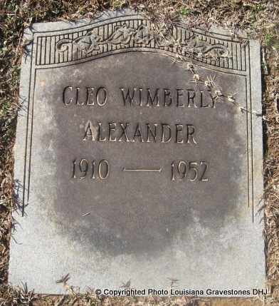 WIMBERLY ALEXANDER, CLEO - Bienville County, Louisiana | CLEO WIMBERLY ALEXANDER - Louisiana Gravestone Photos
