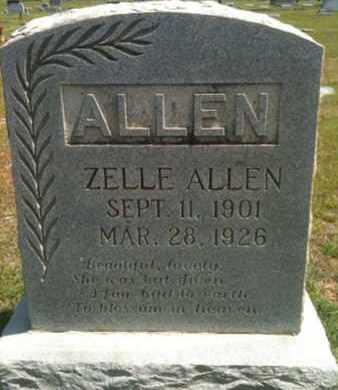 ALLEN, ZELLE - Bienville County, Louisiana | ZELLE ALLEN - Louisiana Gravestone Photos