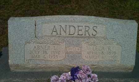 ANDERS, ABNER L - Bienville County, Louisiana | ABNER L ANDERS - Louisiana Gravestone Photos