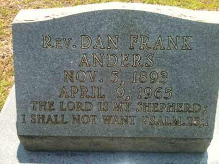 ANDERS, DAN FRANK - Bienville County, Louisiana | DAN FRANK ANDERS - Louisiana Gravestone Photos