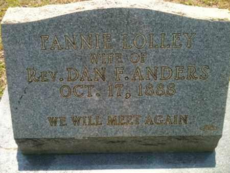 ANDERS, FANNIE - Bienville County, Louisiana | FANNIE ANDERS - Louisiana Gravestone Photos