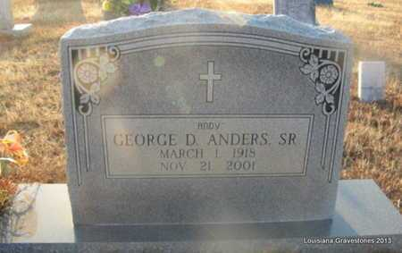 ANDERS, GEORGE D, SR - Bienville County, Louisiana | GEORGE D, SR ANDERS - Louisiana Gravestone Photos