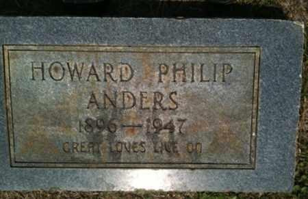ANDERS, HOWARD PHILIP - Bienville County, Louisiana | HOWARD PHILIP ANDERS - Louisiana Gravestone Photos