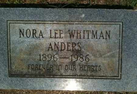 WHITMAN ANDERS, NORA LEE - Bienville County, Louisiana | NORA LEE WHITMAN ANDERS - Louisiana Gravestone Photos