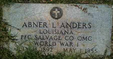 ANDERS, ABNER L (VETERAN WWI) - Bienville County, Louisiana | ABNER L (VETERAN WWI) ANDERS - Louisiana Gravestone Photos
