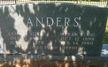 ANDERS, MERAH - Bienville County, Louisiana   MERAH ANDERS - Louisiana Gravestone Photos