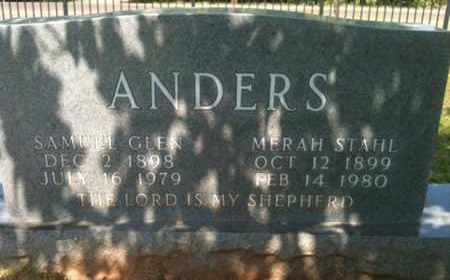 STAHL ANDERS, MERAH - Bienville County, Louisiana | MERAH STAHL ANDERS - Louisiana Gravestone Photos