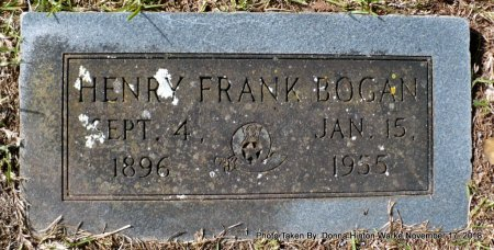 BOGAN, HENRY FRANK - Bienville County, Louisiana | HENRY FRANK BOGAN - Louisiana Gravestone Photos