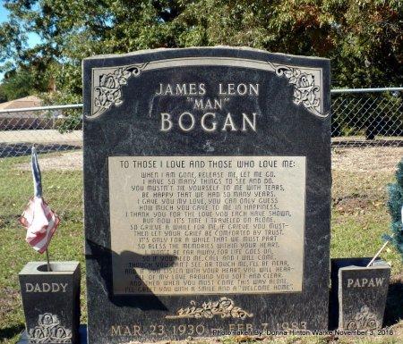 "BOGAN, JAMES LEON ""MAN"" - Bienville County, Louisiana | JAMES LEON ""MAN"" BOGAN - Louisiana Gravestone Photos"