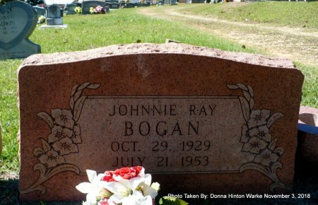 BOGAN, JOHNNIE RAY - Bienville County, Louisiana | JOHNNIE RAY BOGAN - Louisiana Gravestone Photos