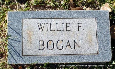 BOGAN, WILLIE F - Bienville County, Louisiana | WILLIE F BOGAN - Louisiana Gravestone Photos