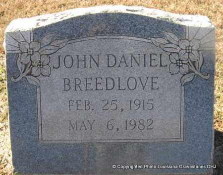 BREEDLOVE, JOHN DANIEL - Bienville County, Louisiana | JOHN DANIEL BREEDLOVE - Louisiana Gravestone Photos