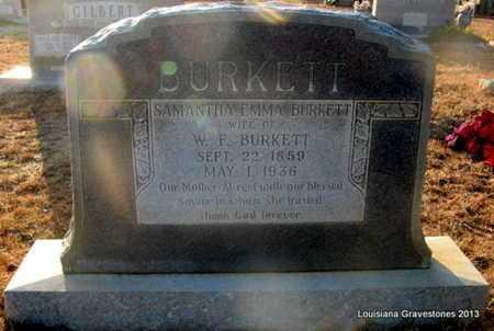 BURKETT, SAMANTHA EMMA - Bienville County, Louisiana   SAMANTHA EMMA BURKETT - Louisiana Gravestone Photos
