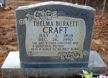 BURKETT CRAFT, THELMA - Bienville County, Louisiana | THELMA BURKETT CRAFT - Louisiana Gravestone Photos