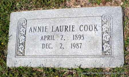 COOK, ANNIE LAURIE - Bienville County, Louisiana   ANNIE LAURIE COOK - Louisiana Gravestone Photos