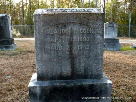 COOK, CLAUDE T - Bienville County, Louisiana   CLAUDE T COOK - Louisiana Gravestone Photos