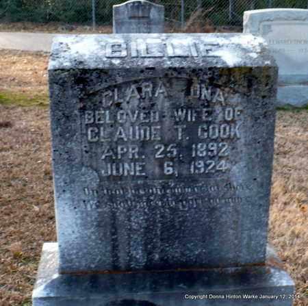 COOK, CLARA ONA - Bienville County, Louisiana | CLARA ONA COOK - Louisiana Gravestone Photos