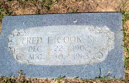 COOK, FRED F, SR - Bienville County, Louisiana | FRED F, SR COOK - Louisiana Gravestone Photos
