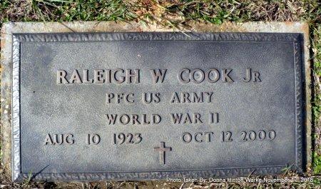 COOK    , RALEIGH WILLIAM JR (VETERAN WWII) - Bienville County, Louisiana   RALEIGH WILLIAM JR (VETERAN WWII) COOK     - Louisiana Gravestone Photos