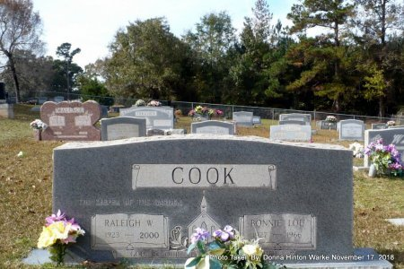 COOK, RALEIGH WILLIAM SR - Bienville County, Louisiana | RALEIGH WILLIAM SR COOK - Louisiana Gravestone Photos