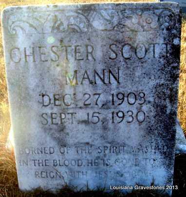 MANN, CHESTER SCOTT - Bienville County, Louisiana | CHESTER SCOTT MANN - Louisiana Gravestone Photos