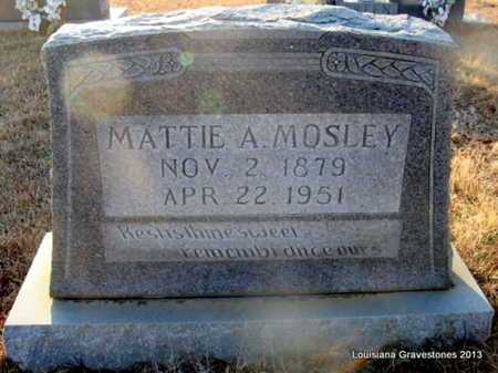 MAYFIELD MOSLEY, MATTIE A - Bienville County, Louisiana | MATTIE A MAYFIELD MOSLEY - Louisiana Gravestone Photos