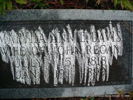 REGAN, MARTHA ANN - Bienville County, Louisiana | MARTHA ANN REGAN - Louisiana Gravestone Photos