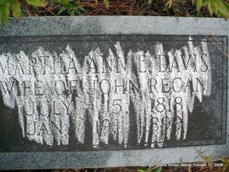 DAVIS REGAN, MARTHA ANN - Bienville County, Louisiana | MARTHA ANN DAVIS REGAN - Louisiana Gravestone Photos