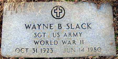 SLACK, WAYNE B (VETERAN WWII) - Bienville County, Louisiana   WAYNE B (VETERAN WWII) SLACK - Louisiana Gravestone Photos