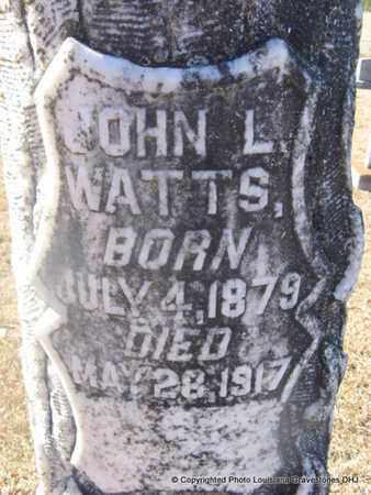 WATTS, JOHN L (CLOSEUP) - Bienville County, Louisiana   JOHN L (CLOSEUP) WATTS - Louisiana Gravestone Photos