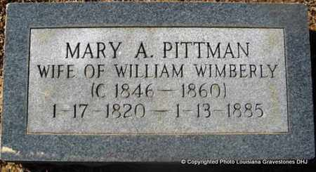 PITMAN WIMBERLY, MARY A - Bienville County, Louisiana   MARY A PITMAN WIMBERLY - Louisiana Gravestone Photos