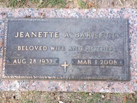 BARNETT, JEANETTE A - Bossier County, Louisiana | JEANETTE A BARNETT - Louisiana Gravestone Photos