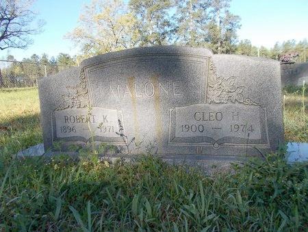 MALONE, CLEO H - Bossier County, Louisiana   CLEO H MALONE - Louisiana Gravestone Photos