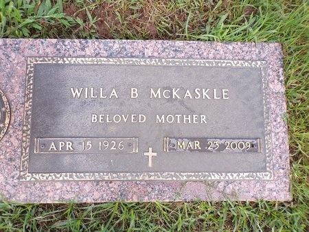 MCKASKLE, WILLA B - Bossier County, Louisiana | WILLA B MCKASKLE - Louisiana Gravestone Photos