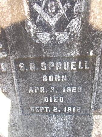 SPRUELL, SIMEON GRUBB (CLOSE UP) - Bossier County, Louisiana | SIMEON GRUBB (CLOSE UP) SPRUELL - Louisiana Gravestone Photos