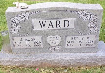 WARD, BETTY W - Bossier County, Louisiana | BETTY W WARD - Louisiana Gravestone Photos