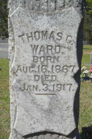 WARD, THOMAS G (CLOSE UP) - Bossier County, Louisiana | THOMAS G (CLOSE UP) WARD - Louisiana Gravestone Photos