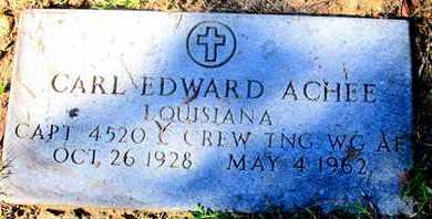ACHEE, CARL EDWARD (VETERAN) - Caddo County, Louisiana | CARL EDWARD (VETERAN) ACHEE - Louisiana Gravestone Photos