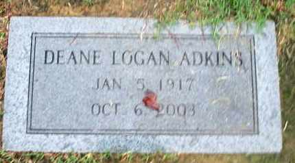 LOGAN ADKINS, DEANE - Caddo County, Louisiana | DEANE LOGAN ADKINS - Louisiana Gravestone Photos