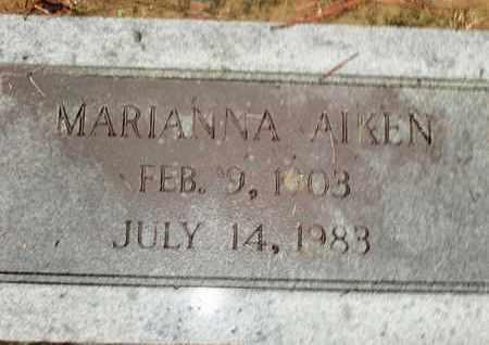 AIKEN, MARIANNA - Caddo County, Louisiana | MARIANNA AIKEN - Louisiana Gravestone Photos