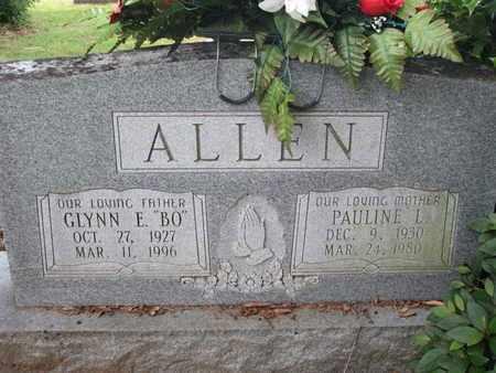 ALLEN, GLYNN E BO - Caddo County, Louisiana | GLYNN E BO ALLEN - Louisiana Gravestone Photos