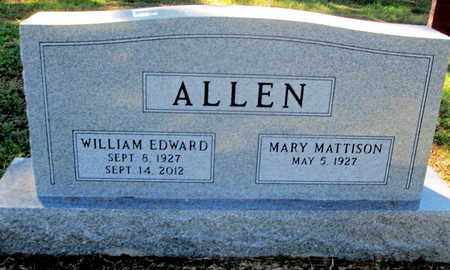 ALLLEN, WILLIAM EDWARD - Caddo County, Louisiana | WILLIAM EDWARD ALLLEN - Louisiana Gravestone Photos